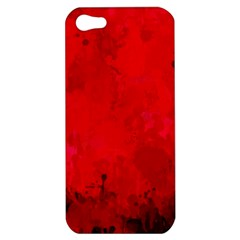 Splashes Of Color, Deep Red Apple iPhone 5 Hardshell Case