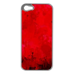 Splashes Of Color, Deep Red Apple iPhone 5 Case (Silver)