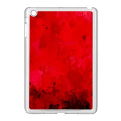 Splashes Of Color, Deep Red Apple iPad Mini Case (White)