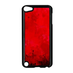 Splashes Of Color, Deep Red Apple iPod Touch 5 Case (Black)