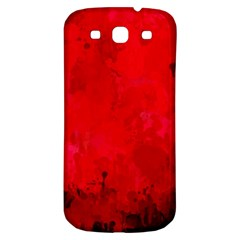 Splashes Of Color, Deep Red Samsung Galaxy S3 S III Classic Hardshell Back Case