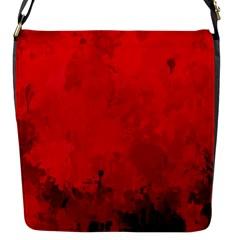 Splashes Of Color, Deep Red Flap Messenger Bag (S)