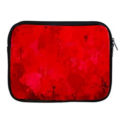 Splashes Of Color, Deep Red Apple iPad 2/3/4 Zipper Cases