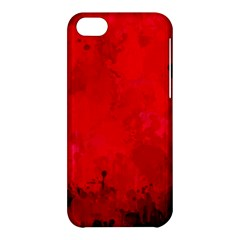 Splashes Of Color, Deep Red Apple iPhone 5C Hardshell Case