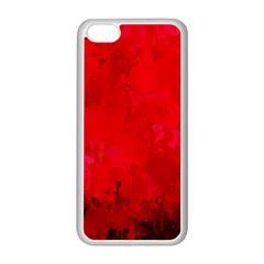Splashes Of Color, Deep Red Apple iPhone 5C Seamless Case (White)