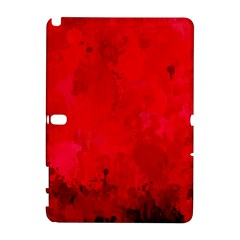 Splashes Of Color, Deep Red Samsung Galaxy Note 10 1 (p600) Hardshell Case
