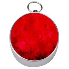 Splashes Of Color, Deep Red Silver Compasses