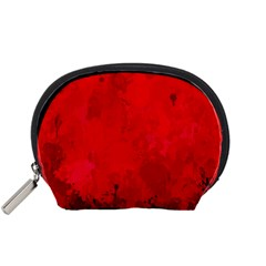 Splashes Of Color, Deep Red Accessory Pouches (Small)