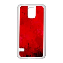 Splashes Of Color, Deep Red Samsung Galaxy S5 Case (White)