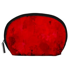 Splashes Of Color, Deep Red Accessory Pouches (Large)
