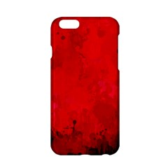 Splashes Of Color, Deep Red Apple iPhone 6/6S Hardshell Case