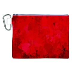 Splashes Of Color, Deep Red Canvas Cosmetic Bag (XXL)