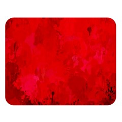 Splashes Of Color, Deep Red Double Sided Flano Blanket (large)