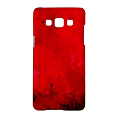 Splashes Of Color, Deep Red Samsung Galaxy A5 Hardshell Case