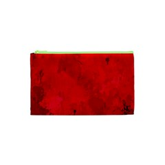 Splashes Of Color, Deep Red Cosmetic Bag (XS)
