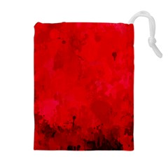 Splashes Of Color, Deep Red Drawstring Pouches (Extra Large)