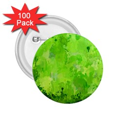 Splashes Of Color, Green 2.25  Buttons (100 pack)