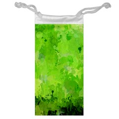 Splashes Of Color, Green Jewelry Bags