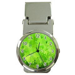 Splashes Of Color, Green Money Clip Watches