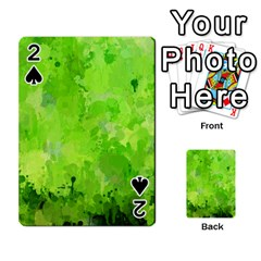 Splashes Of Color, Green Playing Cards 54 Designs