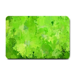 Splashes Of Color, Green Small Doormat