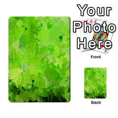 Splashes Of Color, Green Multi Purpose Cards (rectangle)