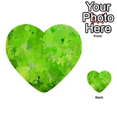 Splashes Of Color, Green Multi-purpose Cards (Heart)