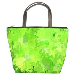 Splashes Of Color, Green Bucket Bags