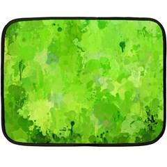 Splashes Of Color, Green Fleece Blanket (mini)