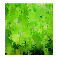 Splashes Of Color, Green Shower Curtain 66  x 72  (Large)