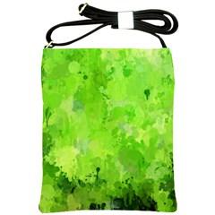 Splashes Of Color, Green Shoulder Sling Bags