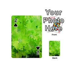 Splashes Of Color, Green Playing Cards 54 (mini)
