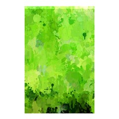 Splashes Of Color, Green Shower Curtain 48  X 72  (small)