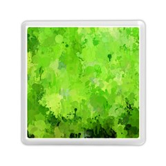 Splashes Of Color, Green Memory Card Reader (square)
