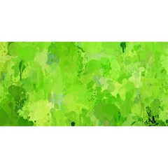 Splashes Of Color, Green You Are Invited 3d Greeting Card (8x4)