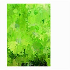Splashes Of Color, Green Small Garden Flag (two Sides)