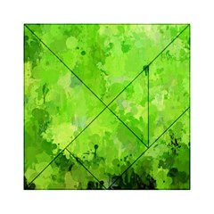 Splashes Of Color, Green Acrylic Tangram Puzzle (6  X 6 )