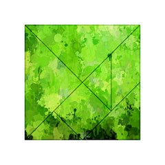 Splashes Of Color, Green Acrylic Tangram Puzzle (4  x 4 )