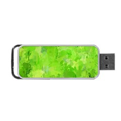 Splashes Of Color, Green Portable Usb Flash (one Side)