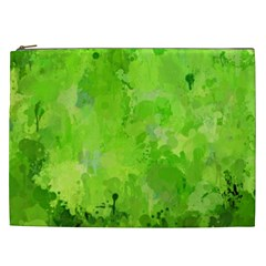 Splashes Of Color, Green Cosmetic Bag (XXL)