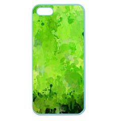Splashes Of Color, Green Apple Seamless iPhone 5 Case (Color)