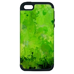 Splashes Of Color, Green Apple iPhone 5 Hardshell Case (PC+Silicone)