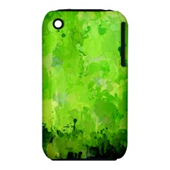 Splashes Of Color, Green Apple iPhone 3G/3GS Hardshell Case (PC+Silicone)