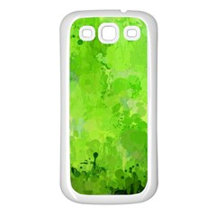 Splashes Of Color, Green Samsung Galaxy S3 Back Case (White)