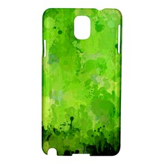 Splashes Of Color, Green Samsung Galaxy Note 3 N9005 Hardshell Case