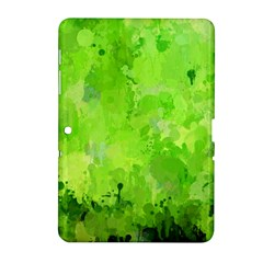 Splashes Of Color, Green Samsung Galaxy Tab 2 (10.1 ) P5100 Hardshell Case