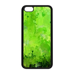 Splashes Of Color, Green Apple iPhone 5C Seamless Case (Black)