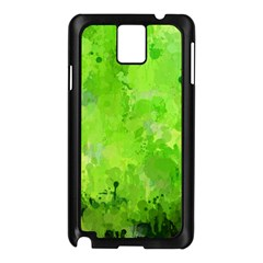 Splashes Of Color, Green Samsung Galaxy Note 3 N9005 Case (Black)