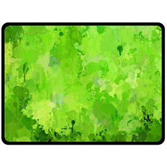 Splashes Of Color, Green Double Sided Fleece Blanket (large)