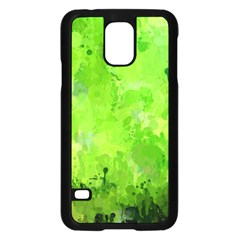 Splashes Of Color, Green Samsung Galaxy S5 Case (black)